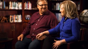 9/16/13 Kay Warren's Office, Rancho Santa Margarita, Ca Photographer: Adam Rose Piers Morgan interviews Pastor Rick Warren and his wife Kay Warren.