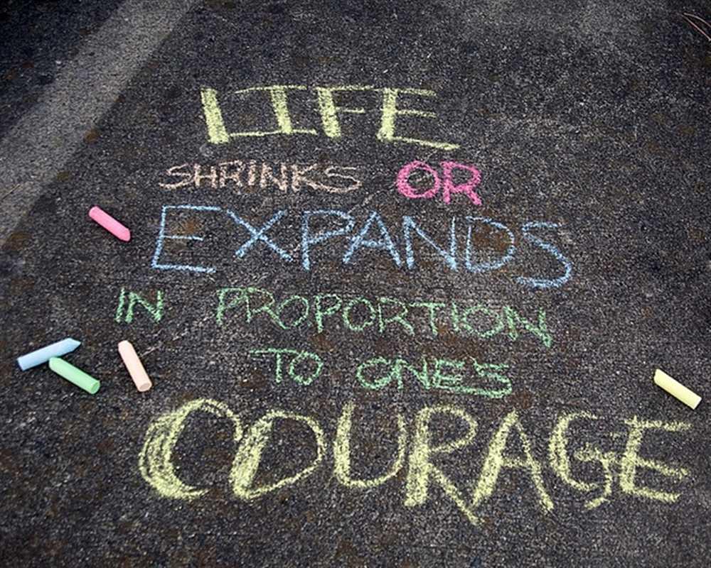 courage chalk
