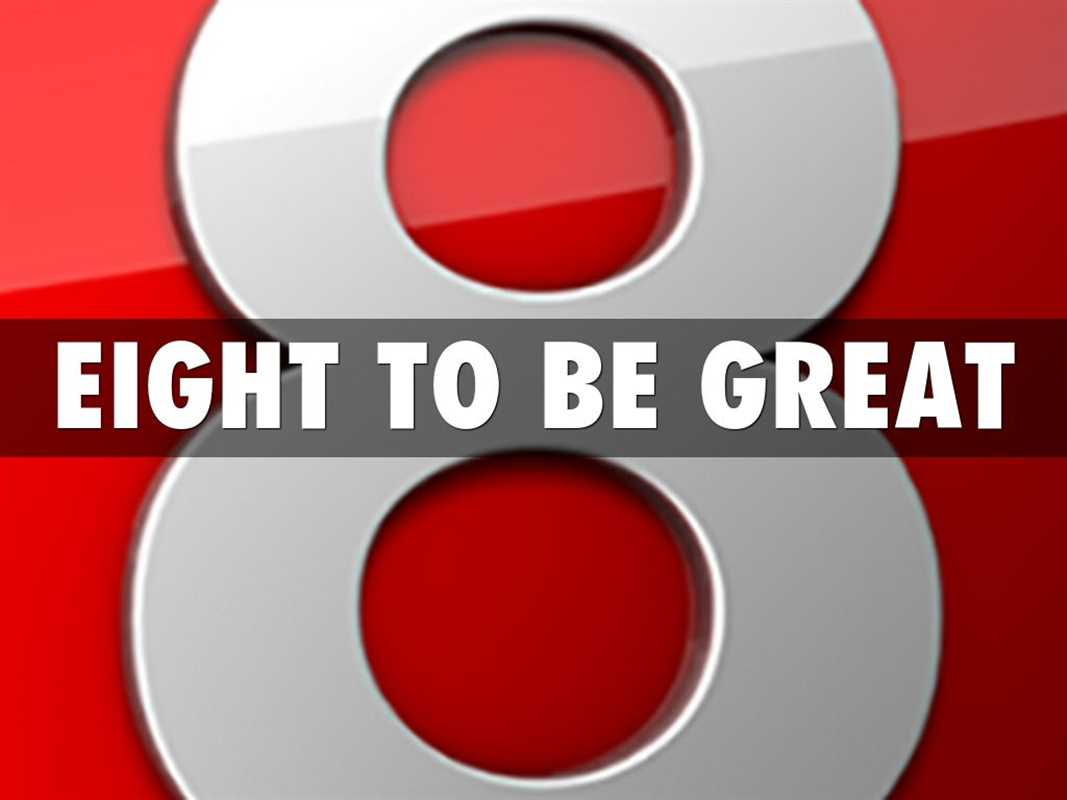 8 TO TO BE GREAT: RICHARD ST JOHN'S STORY