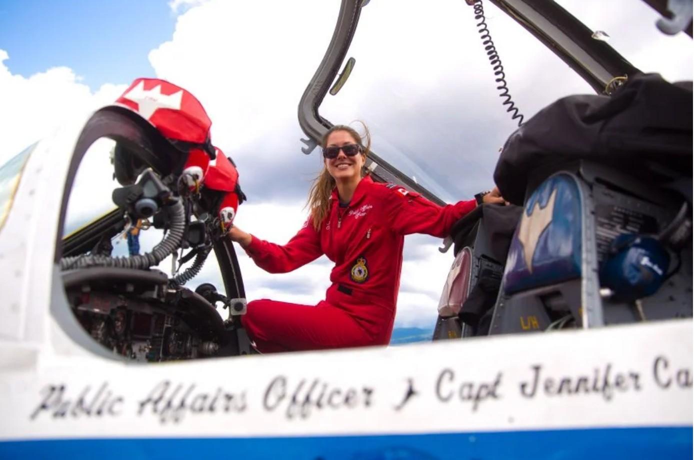 OPERATION INSPIRATION: SNOWBIRD DOING HER JOB
